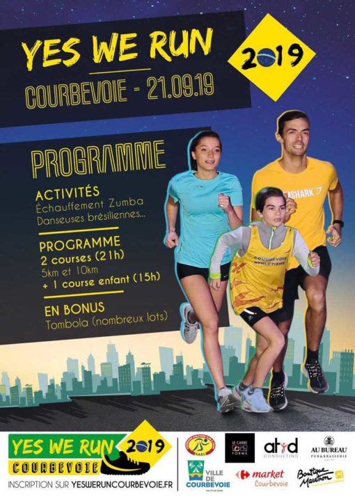 Affiche Yes We Run Courbevoie 2019