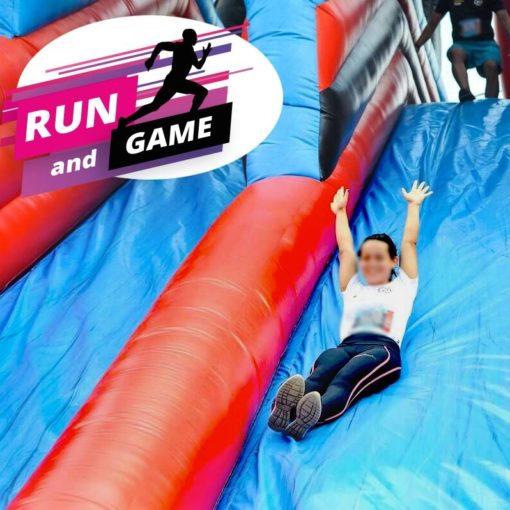 Run and Game obstacle toboggan