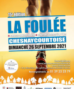 Affiche Foulée Chesnaycourtoise 2021